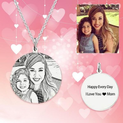 Photo Engraved Tag Necklace