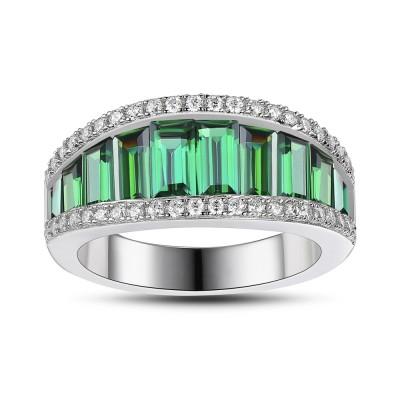 Emerald 925 Sterling Silver Women's Wedding Bands