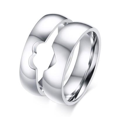 Special Design Titanium Steel Promise Ring for Couples
