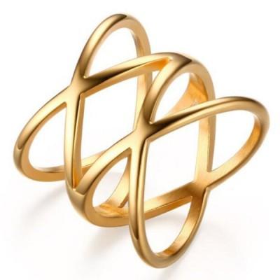 Titanium Lovely Gold Promise Rings For Her
