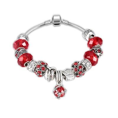 Red/Aquamarine/White/Cyan/Black/Fuchsia Silver Titanium Bracelets