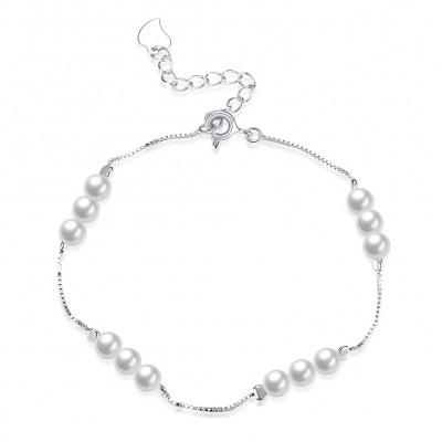 Elegant Pearls S925 Silver Bracelets