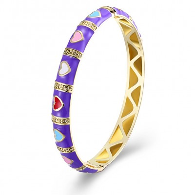 Lovely Red/Purple Gold Titanium Bangles