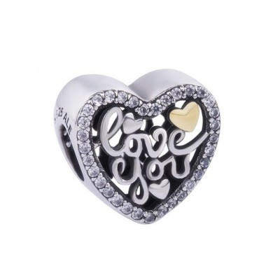Love You Charm Sterling Silver