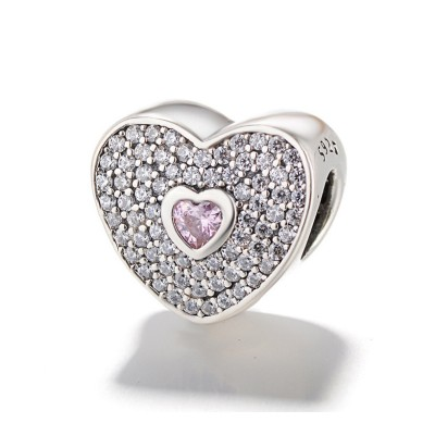 Fowever Love Charm Sterling Silver