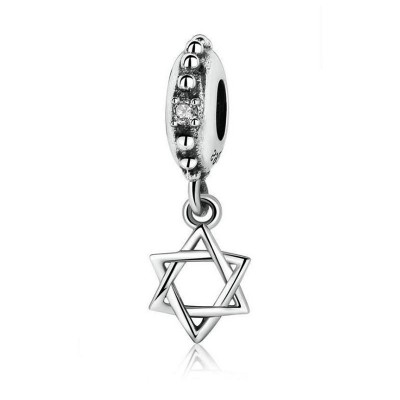 Hexagram Charm Sterling Silver