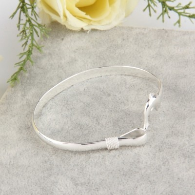 Cute Dolphin Clasp Bangle Bracelet