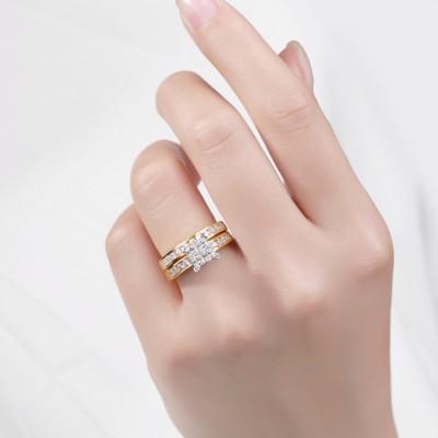Princess Cut 1-1/2CT Gemstone 925 Sterling Silver Bridal Ring Sets