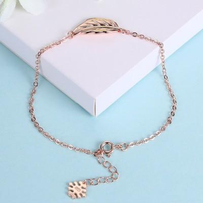 Rose Gold/Silver/Gold Leaf Pendant S925 Silver Bracelets