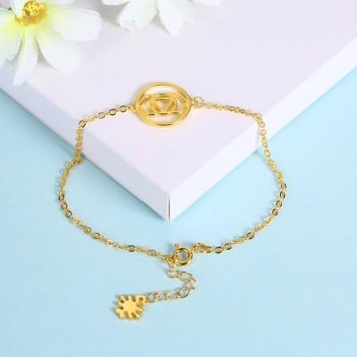 Rose Gold/Silver/Gold Flower Pendant Unique S925 Silver Bracelets