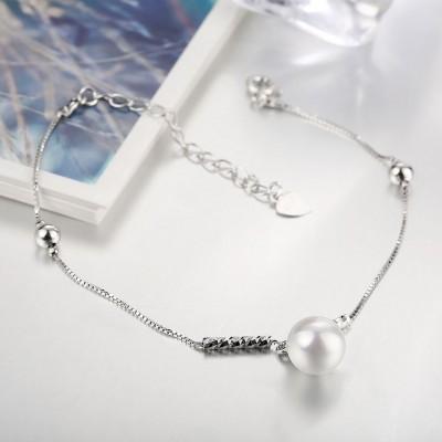White/Pearl Pink Pearl S925 Silver Bracelets