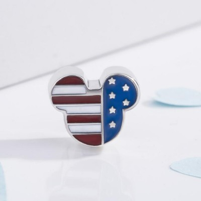 Mickey Stars & Stripes Charm Sterling Silver